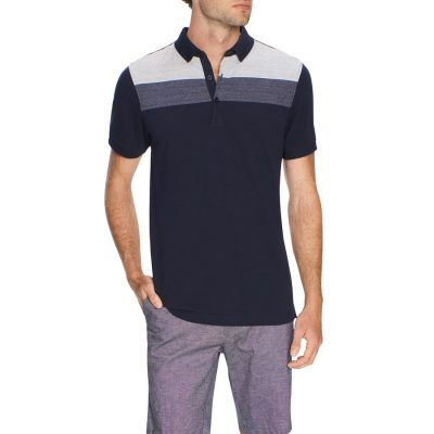 Fashion 4 Men - Tarocash Ritchie Panel Polo Navy Xl