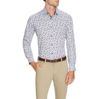 Fashion 4 Men - Tarocash Victory Print Shirt Blue Xxxl