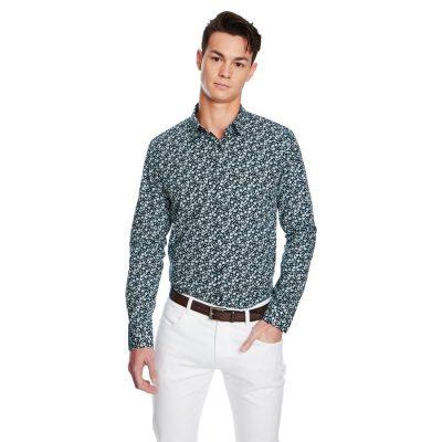Fashion 4 Men - yd. Arkham Shirt Navy Print Xxl