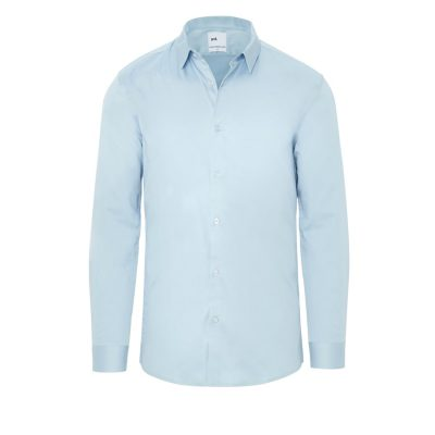 Fashion 4 Men - yd. Berners Muscle Fit Shirt Light Blue 3 Xs
