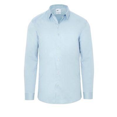 Fashion 4 Men - yd. Berners Muscle Fit Shirt Light Blue M