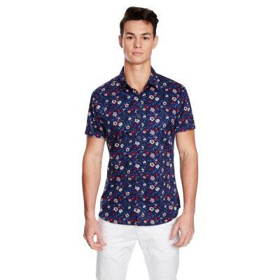 Fashion 4 Men - yd. Botanical Ss Shirt Navy Xl