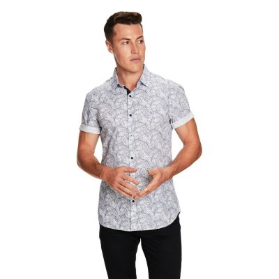 Fashion 4 Men - yd. Grove Ss Shirt Blue Xs