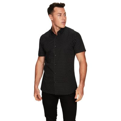 Fashion 4 Men - yd. Hollis Ss Shirt Black Xxl