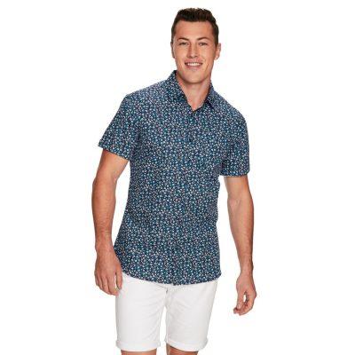 Fashion 4 Men - yd. Holt Ss Shirt Blue S