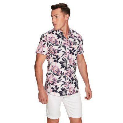 Fashion 4 Men - yd. Mix Ss Shirt Multi M