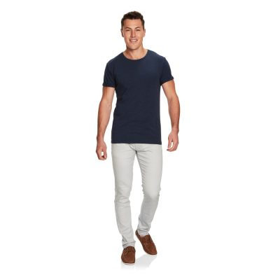 Fashion 4 Men - yd. Muscle Basic Tee Denim Marle L