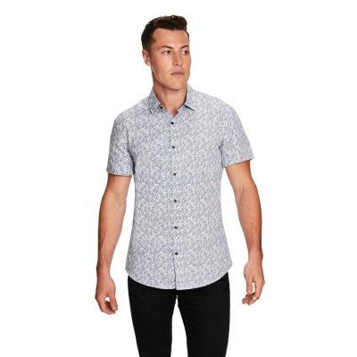Fashion 4 Men - yd. Pike Paisley Ss Shirt Navy Xxl