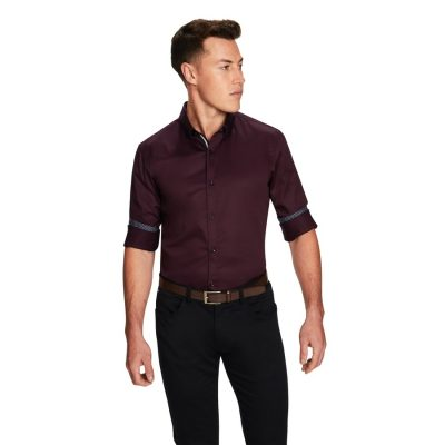 Fashion 4 Men - yd. Vision Slim Fit Shirt Burgundy Xxl