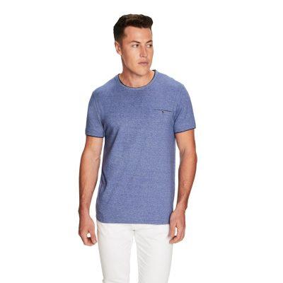 Fashion 4 Men - yd. Weldon Ss Tee Blue 2 Xl