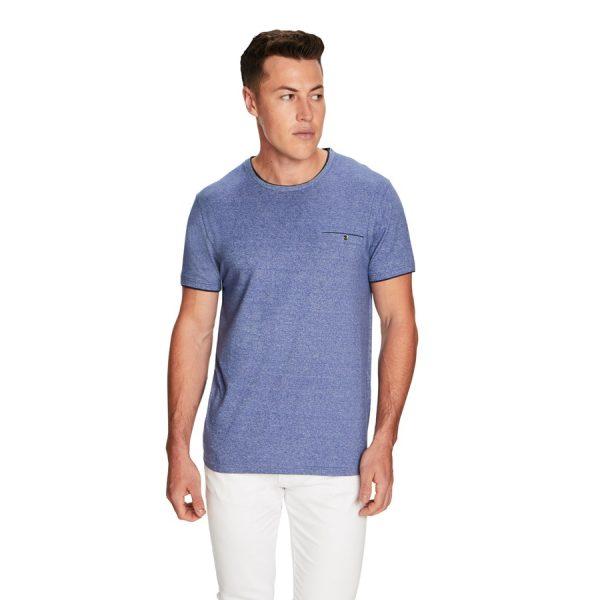 Fashion 4 Men - yd. Weldon Ss Tee Blue S