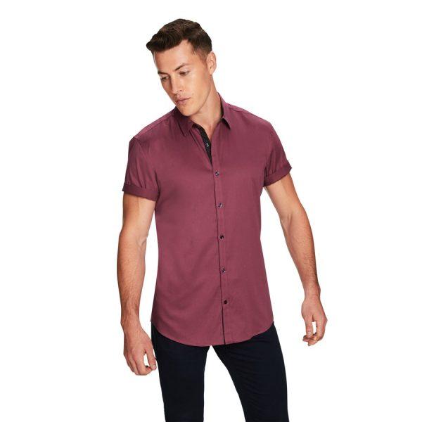 Fashion 4 Men - yd. Zane Ss Shirt Mulberry Xxxl