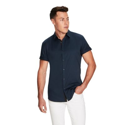 Fashion 4 Men - yd. Zane Ss Shirt Teal L