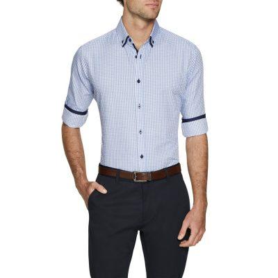Fashion 4 Men - Tarocash Axel Check Shirt Blue Xxl