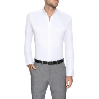 Fashion 4 Men - Tarocash Bermuda Slim Easy Iron Shirt White L