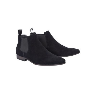 Fashion 4 Men - Tarocash Brixton Suede Gusset Boot Black 9