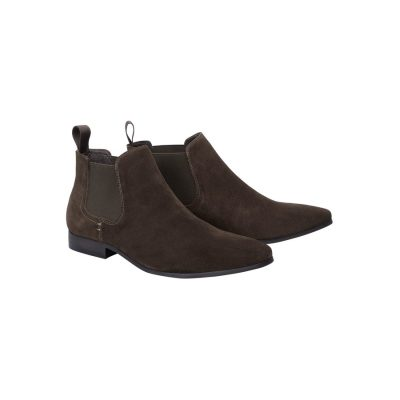 Fashion 4 Men - Tarocash Brixton Suede Gusset Boot Chocolate 9