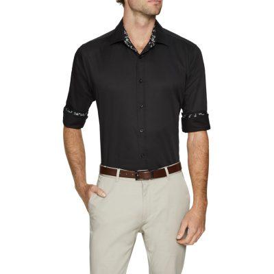 Fashion 4 Men - Tarocash Brock Stretch Shirt Black Xs