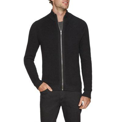 Fashion 4 Men - Tarocash Chase Zip Thru Knit Black Xxl