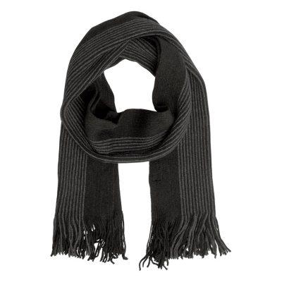Fashion 4 Men - Tarocash Cologne Stripe Scarf Black 1