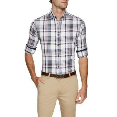 Fashion 4 Men - Tarocash Crossroads Check Shirt Navy 4 Xl