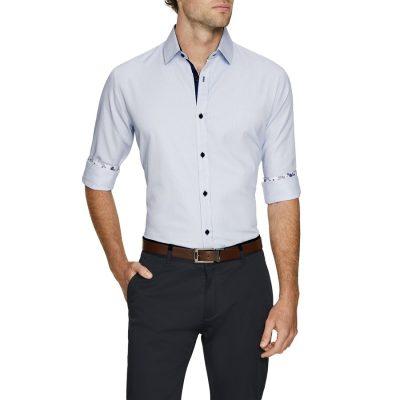 Fashion 4 Men - Tarocash Finlay Stripe Shirt Sky L