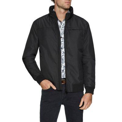 Fashion 4 Men - Tarocash Hetfield Textured Zip Thru Jacket Black Xxxl