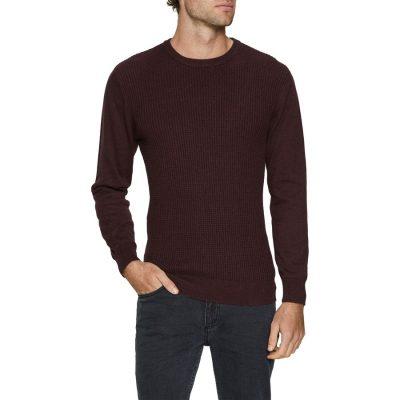 Fashion 4 Men - Tarocash Jackson Crew Neck Knit Burgundy L