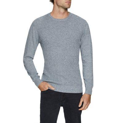 Fashion 4 Men - Tarocash Jackson Crew Neck Knit Denim Xs