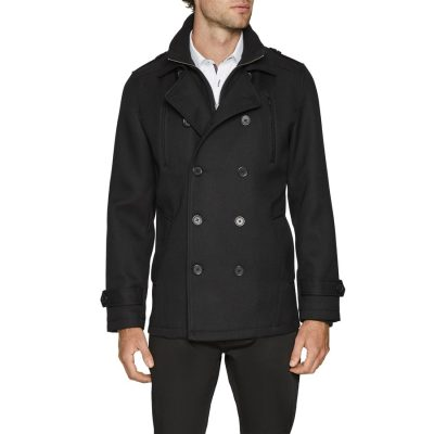 Fashion 4 Men - Tarocash Leeds Db Coat Black L