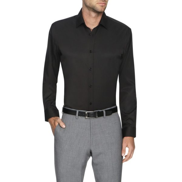 Fashion 4 Men - Tarocash Linton Stretch Non Iron Shirt Black S