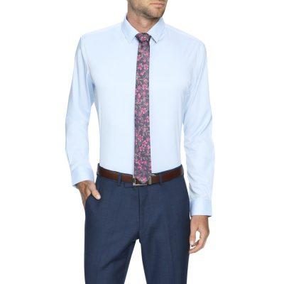 Fashion 4 Men - Tarocash Linton Stretch Non Iron Shirt Sky M