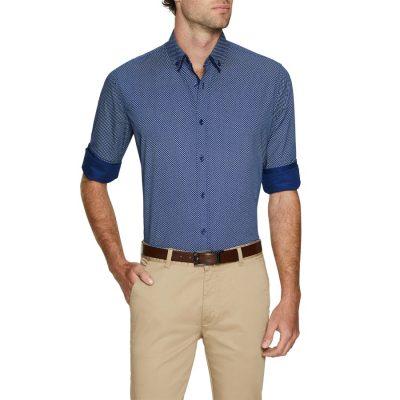 Fashion 4 Men - Tarocash Lord Print Shirt Blue Xxxl