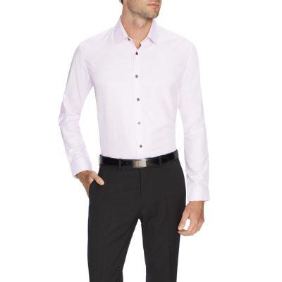 Fashion 4 Men - Tarocash Marty Textured Shirt Pink Xs