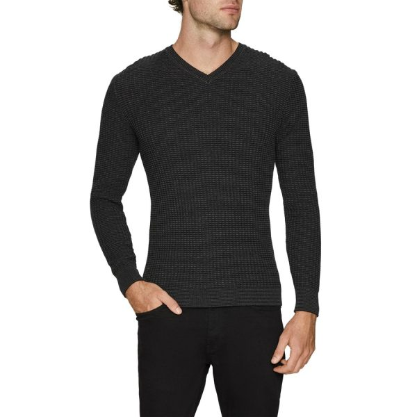 Fashion 4 Men - Tarocash Mason Textured Knit Charcoal S