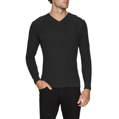Fashion 4 Men - Tarocash Mason Textured Knit Charcoal Xl