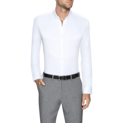 Fashion 4 Men - Tarocash Murphy Stretch Non Iron Shirt White Xs