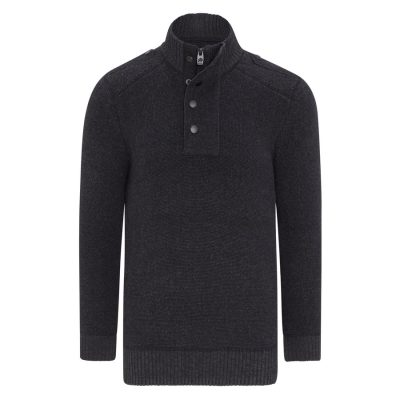 Fashion 4 Men - Tarocash North West Knit Charcoal S