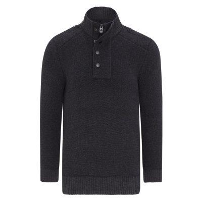 Fashion 4 Men - Tarocash North West Knit Charcoal Xl