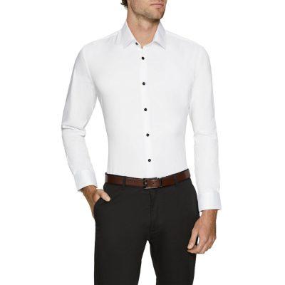 Fashion 4 Men - Tarocash Portland Slim Stretch Dress Shirt White Xl
