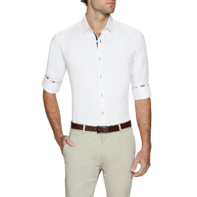 Fashion 4 Men - Tarocash Santiago Textured Shirt White S
