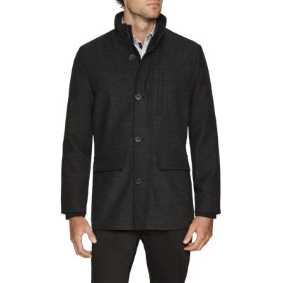 Fashion 4 Men - Tarocash Savage Textured Jacket Charcoal L