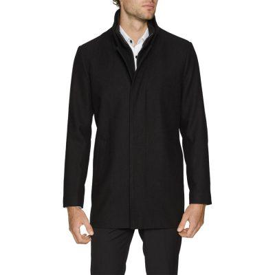Fashion 4 Men - Tarocash Scott Wool Blend Coat Black L