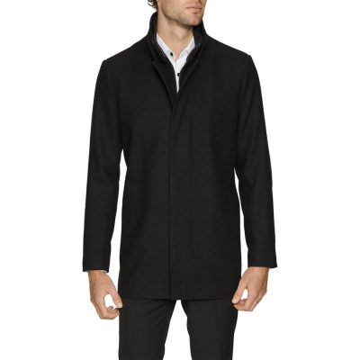Fashion 4 Men - Tarocash Scott Wool Blend Coat Black Xl