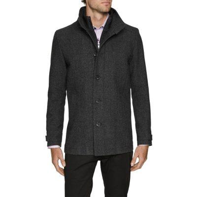 Fashion 4 Men - Tarocash Tilbury Textured Coat Charcoal Xxl