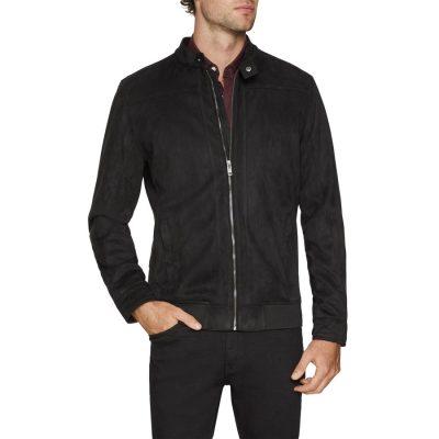 Fashion 4 Men - Tarocash Tim Faux Suede Jacket Black L