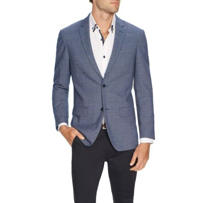 Fashion 4 Men - Tarocash Wade Textured Blazer Blue L