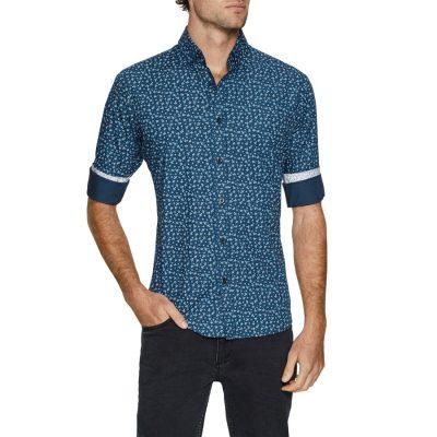 Fashion 4 Men - Tarocash Xander Floral Print Shirt Navy M