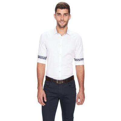 Fashion 4 Men - yd. Atlantis Slim Fit Shirt White 3 Xs