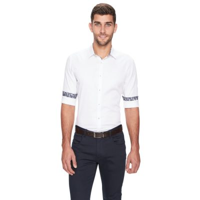 Fashion 4 Men - yd. Atlantis Slim Fit Shirt White L